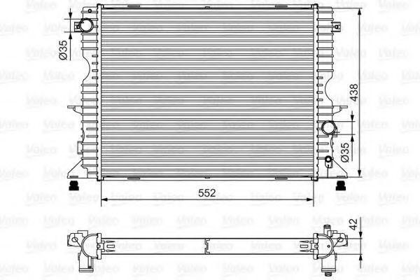 Радиатор, охлаждение двигателя VALEO 701545