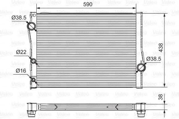 Радиатор, охлаждение двигателя VALEO 701549