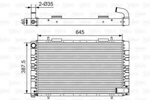Радиатор, охлаждение двигателя VALEO 731235