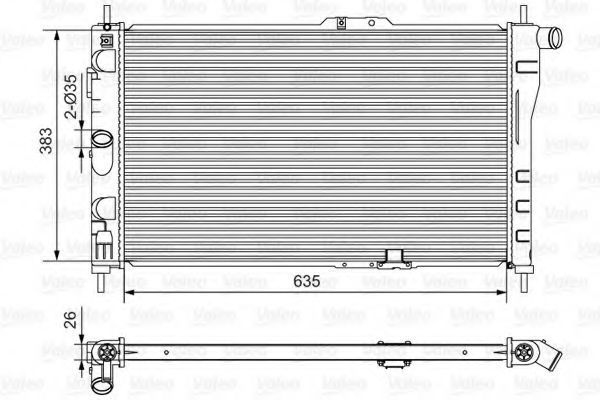 Радиатор, охлаждение двигателя VALEO 734766