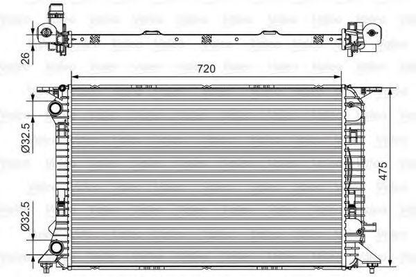 Радиатор охлаждения VALEO 735471