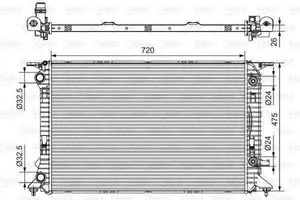 Радиатор охлаждения VALEO 735472