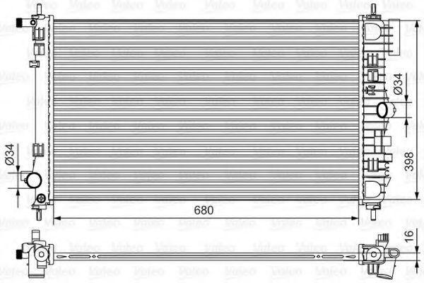 Радиатор охлаждения VALEO 735483