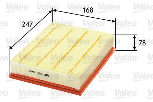 Фильтр воздушный VALEO 585018