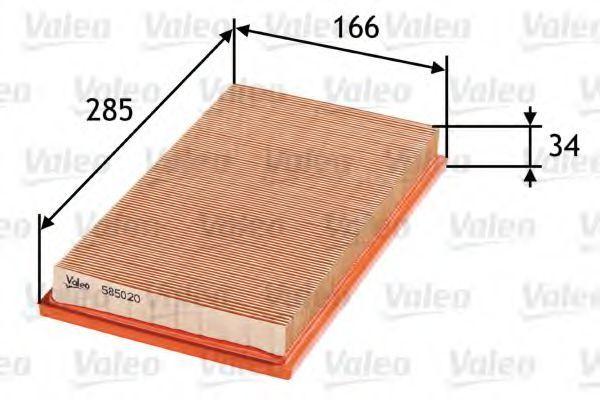 Фильтр воздушный VALEO 585020