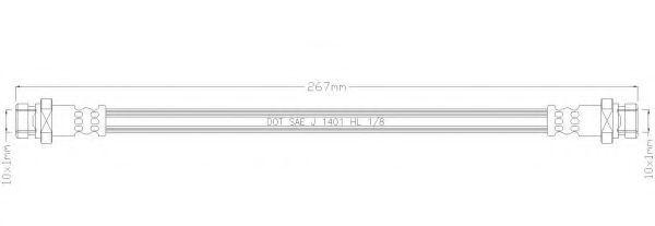 Тормозной шланг REMKAFLEX 2106