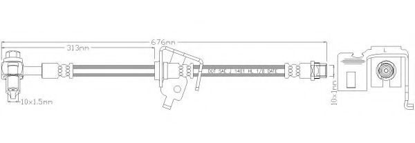 Тормозной шланг REMKAFLEX 6090