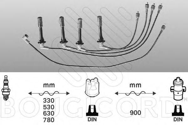 Комплект проводов зажигания Bougicord 3395