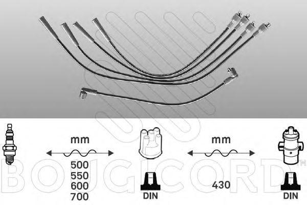 Комплект проводов зажигания Bougicord 4007