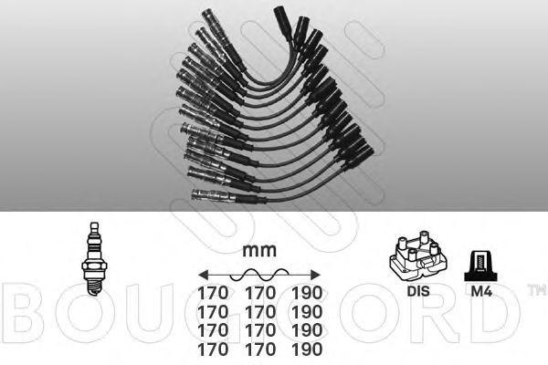 Комплект проводов зажигания Bougicord 9840