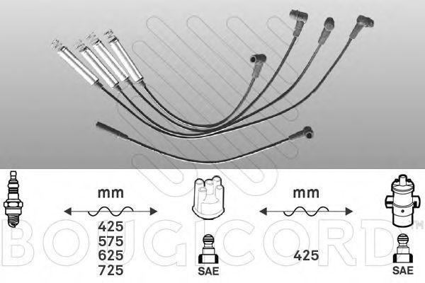 Комплект проводов зажигания Bougicord 4122