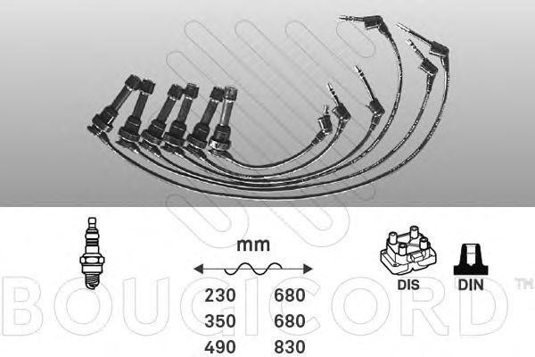 Комплект проводов зажигания Bougicord 7170