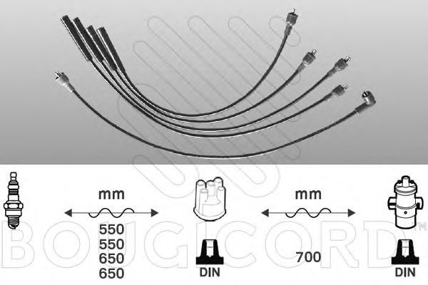 Комплект проводов зажигания Bougicord 7253