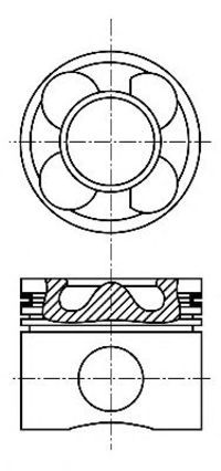 Поршень двигателя NURAL 87-136407-00