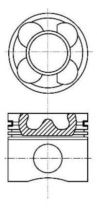 Поршень двигателя NURAL 87-137606-00