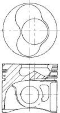 Поршень двигателя NURAL 87-501507-20