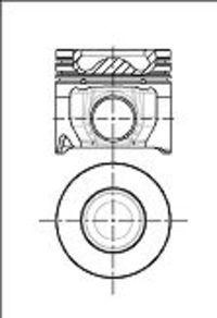 Поршень двигателя NURAL 87-433600-00
