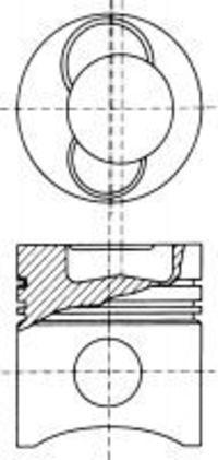 Поршень двигателя NURAL 87-136500-10