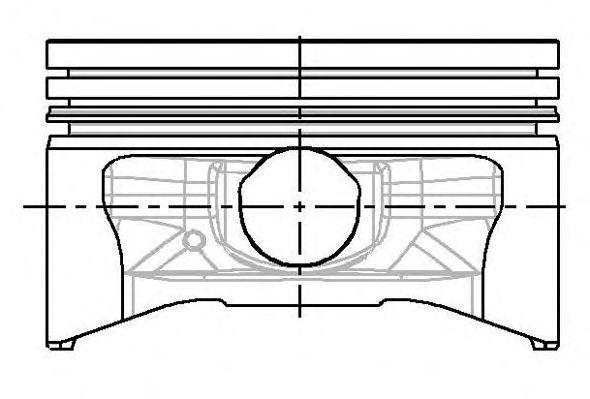 Поршень двигателя NURAL 87-785007-00