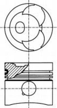 Поршень двигателя NURAL 87-173807-10