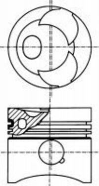 Поршень двигателя NURAL 87 176708 00