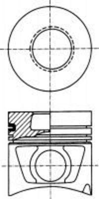 Поршень двигателя NURAL 87-743200-00