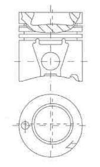 Поршень двигателя NURAL 87-179300-85