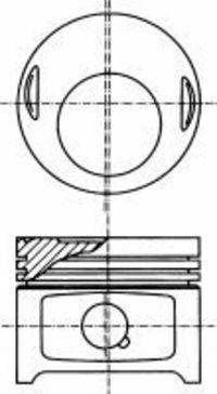 Поршень двигателя NURAL 87-179507-10