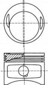 Поршень двигателя NURAL 8717970710