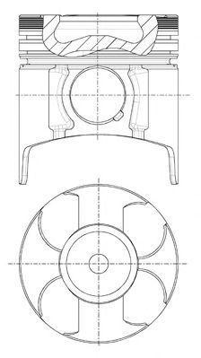 Поршень двигателя NURAL 8730760040