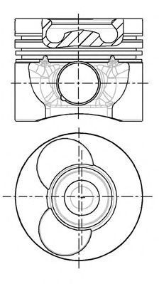 Поршень двигателя NURAL 87-743100-00