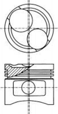 Поршень двигателя NURAL 8730630700
