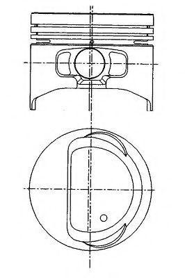 Поршень двигателя NURAL 87-436800-00