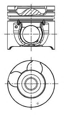 Поршень двигателя NURAL 87-431700-00