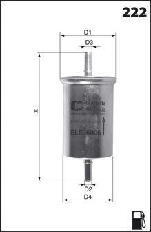 Топливный фильтр MECAFILTER ELE6122