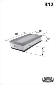 Воздушный фильтр MECAFILTER ELP9434