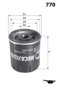 Масляный фильтр MECAFILTER ELH4120