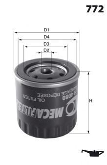 Масляный фильтр MECAFILTER ELH4080