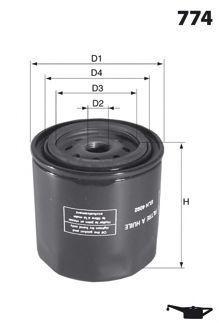 Масляный фильтр MECAFILTER ELH4704