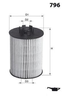 Масляный фильтр MECAFILTER ELH4464