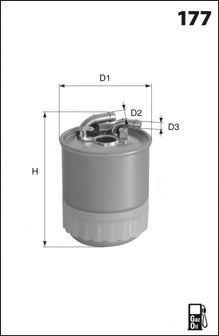 Топливный фильтр MECAFILTER ELG5459