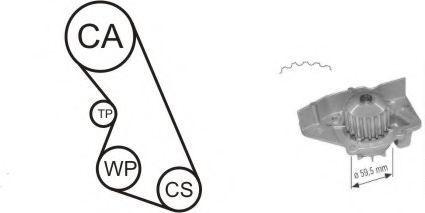 Ремкомплект ремня ГРМ + насос водяной AIRTEX WPK-135901
