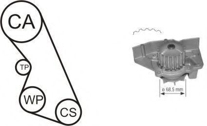 Насос водяной с ремнем и роликом AIRTEX WPK136102