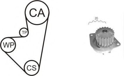 Ремкомплект ГРМ с водяным насосом AIRTEX WPK-141901