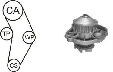 Насос водяной с ремнем и роликом AIRTEX WPK152303