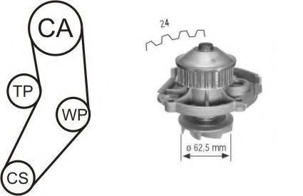 Насос водяной с ремнем и роликом AIRTEX WPK161602
