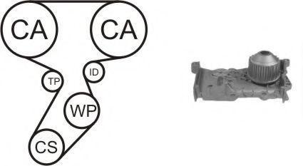Насос водяной с ремнем и роликом AIRTEX WPK164101