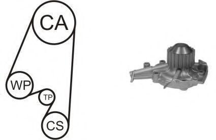 Насос водяной с ремнем и роликом AIRTEX WPK164601
