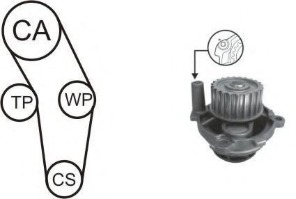 Ремкомплект ремня ГРМ + насос водяной AIRTEX WPK-170301