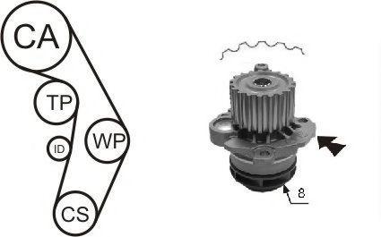 Насос водяной ролик ремень AIRTEX WPK199805